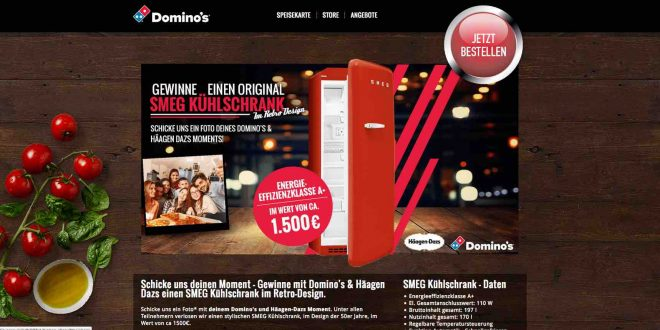 dominos pizza gewinnspiel smeg retro k hlschrank gewinnen. Black Bedroom Furniture Sets. Home Design Ideas