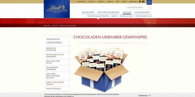 schokoladen gewinnspiel