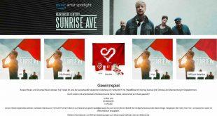 Sunrise Avenue Gewinnspiel