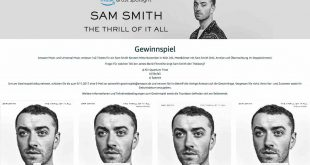 Amazon Gewinnspiel Sam Smith