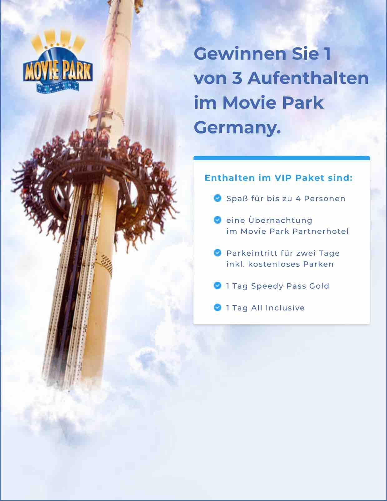 Movie Park Gewinnspiel