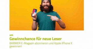 barmer iphone X gewinnspiel