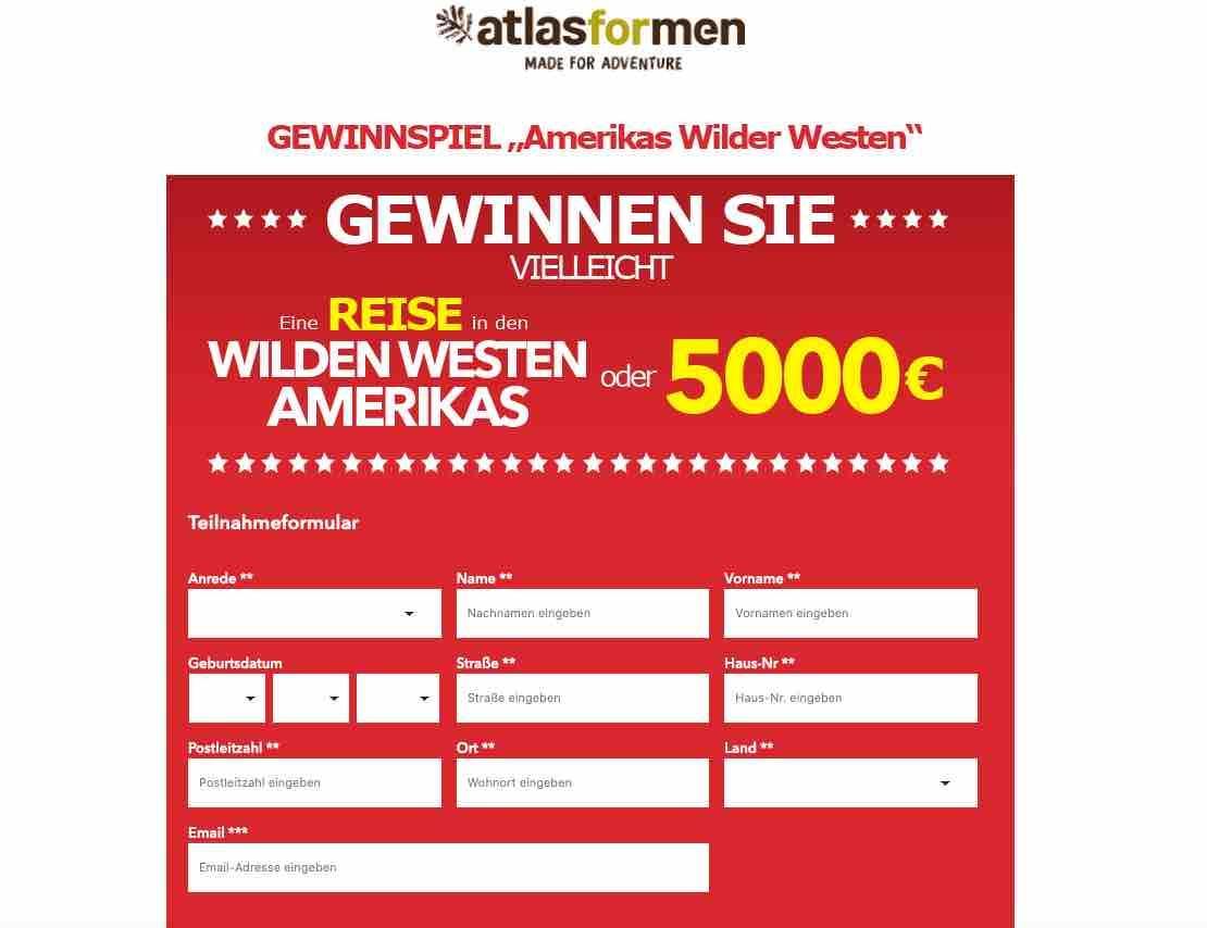 atlas for men gewinnspiel