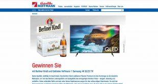 Getränke Hoffmann Samsung TV Gewinnspiel