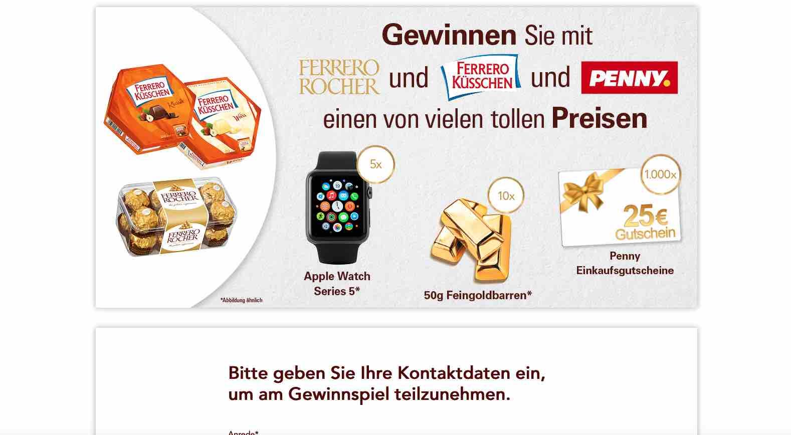 Ferrero Rocher Apple Watch Gewinnspiel